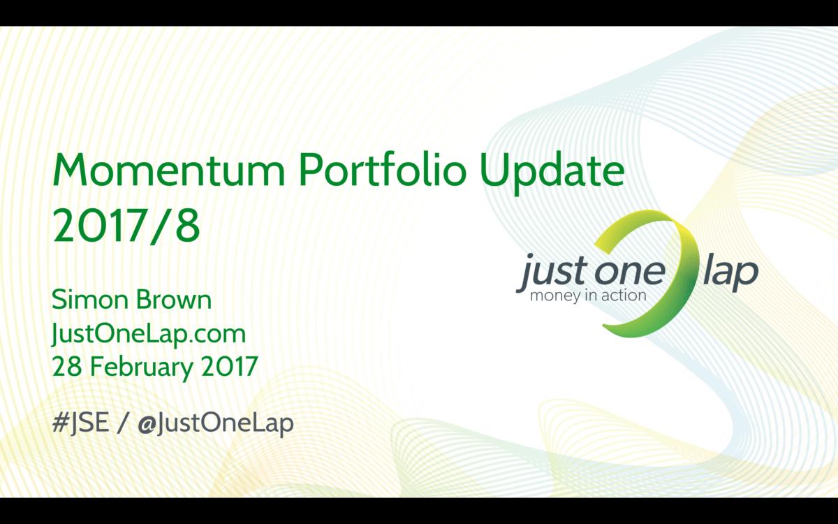 Momentum portfolio update and new stocks Feb17
