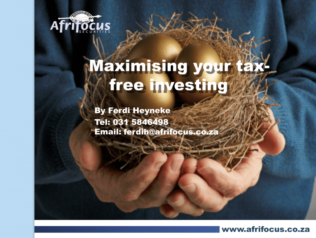 Maximising your tax-free investing