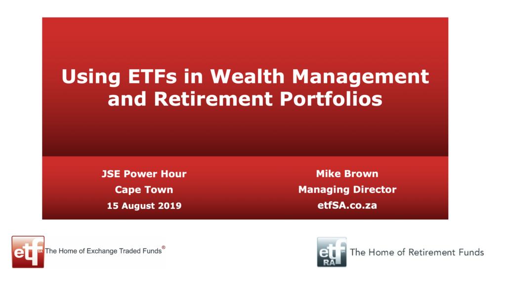 ETFs for investing and retiring