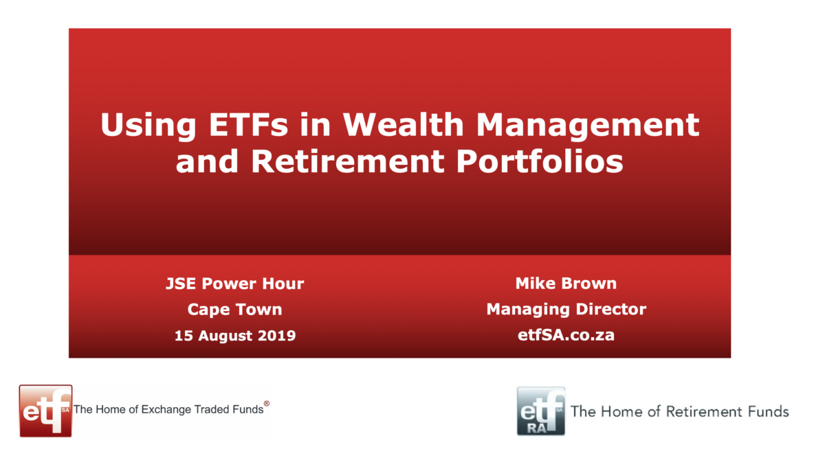 ETFs for investing and retiring